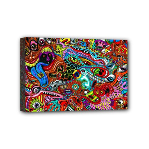 Moster Mask Mini Canvas 6  X 4  by AnjaniArt