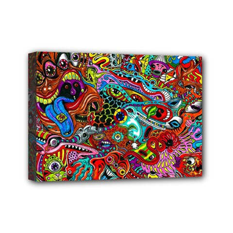 Moster Mask Mini Canvas 7  X 5  by AnjaniArt
