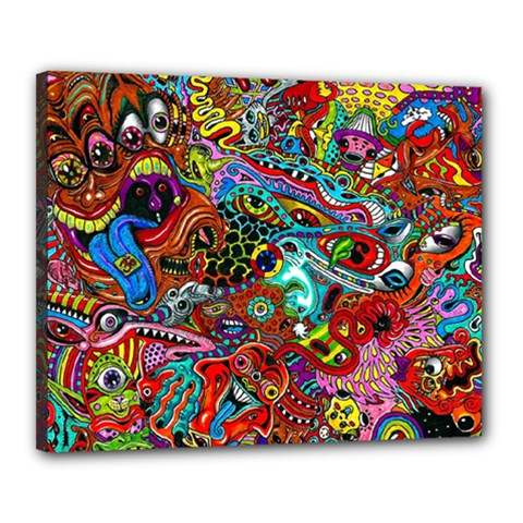 Moster Mask Canvas 20  X 16  by AnjaniArt