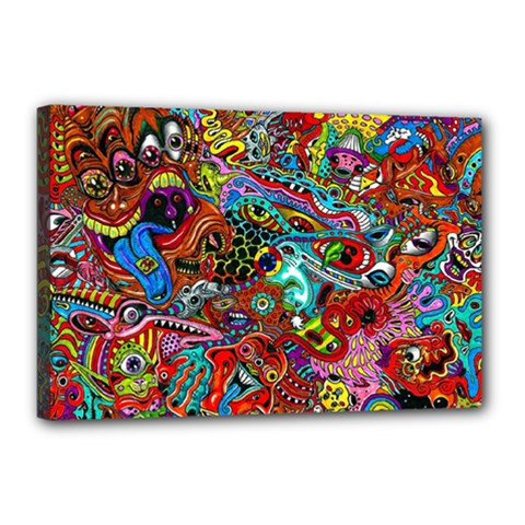 Moster Mask Canvas 18  X 12  by AnjaniArt