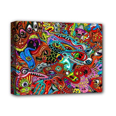 Moster Mask Deluxe Canvas 14  X 11  by AnjaniArt