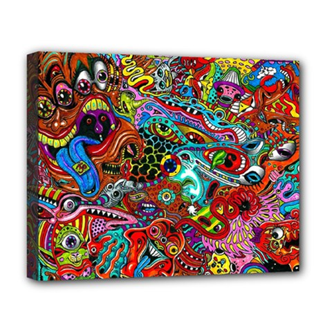 Moster Mask Deluxe Canvas 20  X 16   by AnjaniArt