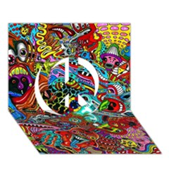 Moster Mask Peace Sign 3D Greeting Card (7x5) by AnjaniArt