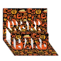 Pumpkin Helloween Work Hard 3d Greeting Card (7x5) by AnjaniArt