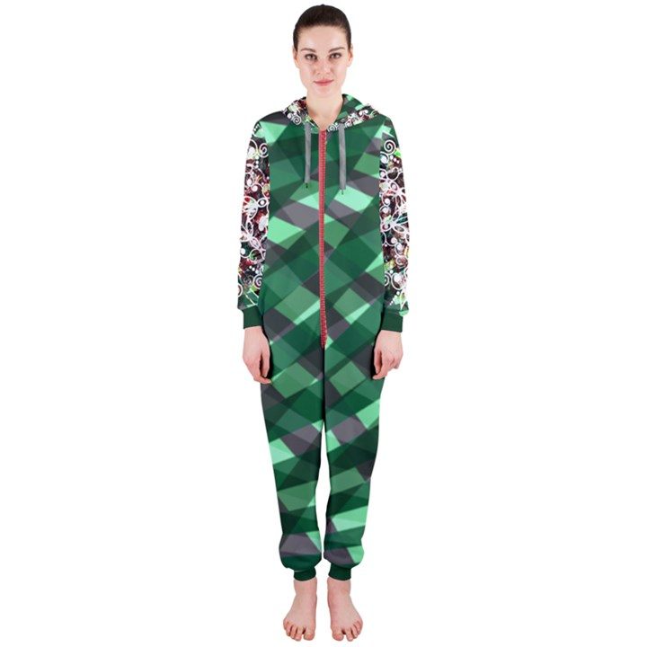 green Hooded Jumpsuit (Ladies)