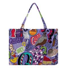 Q Pattern Medium Tote Bag