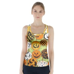 Print Halloween Racer Back Sports Top by AnjaniArt