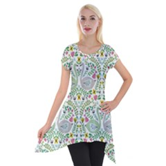 Pet Goose Swan Short Sleeve Side Drop Tunic