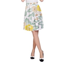 Yellow Ranunculus A-Line Skirt by justbeeinspired2
