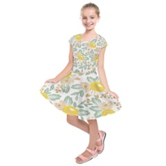 Yellow Ranunculus Kids  Short Sleeve Dress by beemyangel6