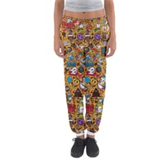 Retro Face Women s Jogger Sweatpants by AnjaniArt