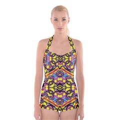 Spirit Time5588 52 Pngyg Boyleg Halter Swimsuit