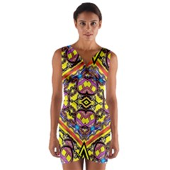 Spirit Time5588 52 Pngyg Wrap Front Bodycon Dress