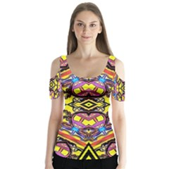 Spirit Time5588 52 Pngyg Butterfly Sleeve Cutout Tee