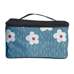 Cloudy Sky With Rain And Flowers Cosmetic Storage Case by CreaturesStore