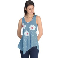 Cloudy Sky With Rain And Flowers Sleeveless Tunic by CreaturesStore