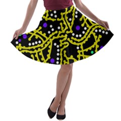 Yellow Fantasy A Line Skater Skirt by Valentinaart