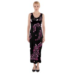 In My Mind   Pink Fitted Maxi Dress by Valentinaart