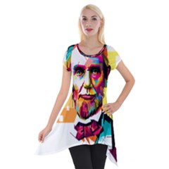 Abraham Lincoln Short Sleeve Side Drop Tunic