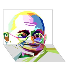 Ghandi Circle Bottom 3d Greeting Card (7x5) by bhazkaragriz