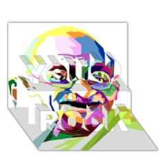 Ghandi You Rock 3d Greeting Card (7x5) by bhazkaragriz