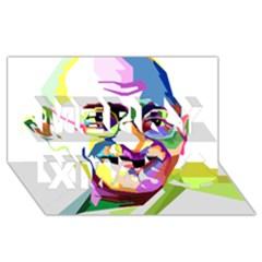 Ghandi Merry Xmas 3d Greeting Card (8x4) by bhazkaragriz