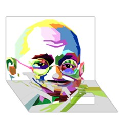 Ghandi Love Bottom 3d Greeting Card (7x5) by bhazkaragriz