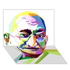 Ghandi Clover 3d Greeting Card (7x5) by bhazkaragriz