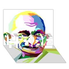 Ghandi Hope 3d Greeting Card (7x5) by bhazkaragriz