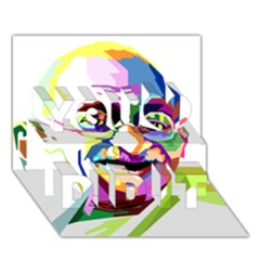 Ghandi You Did It 3d Greeting Card (7x5) by bhazkaragriz