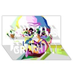 Ghandi Congrats Graduate 3d Greeting Card (8x4) by bhazkaragriz