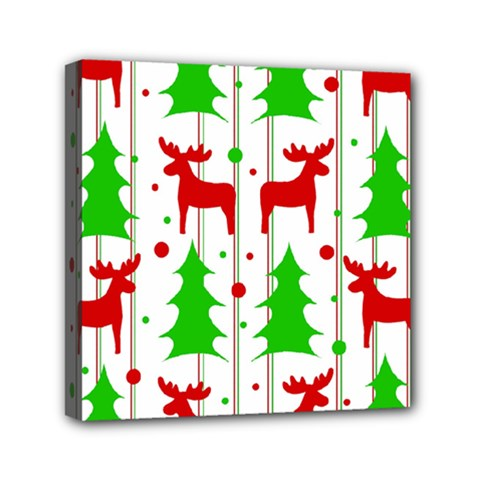 Reindeer Elegant Pattern Mini Canvas 6  X 6  by Valentinaart