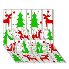 Reindeer Elegant Pattern You Are Invited 3d Greeting Card (7x5) by Valentinaart