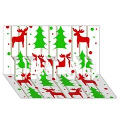 Reindeer elegant pattern BEST SIS 3D Greeting Card (8x4) by Valentinaart