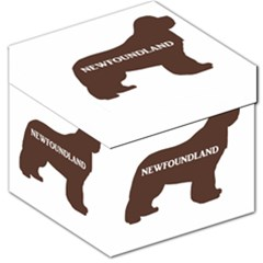 Newfie Name Silo Brown Storage Stool 12   by TailWags