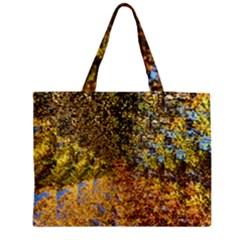 Optical Design Autumn Leaves Medium Zipper Tote Bag by SusanFranzblau