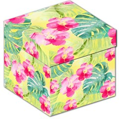 Tropical Dream Hibiscus Pattern Storage Stool 12   by DanaeStudio