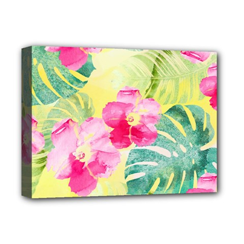 Tropical Dream Hibiscus Pattern Deluxe Canvas 16  X 12   by DanaeStudio