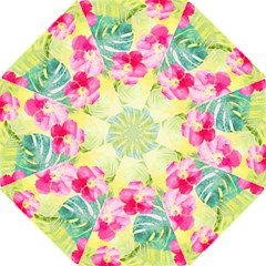 Tropical Dream Hibiscus Pattern Hook Handle Umbrellas (large) by DanaeStudio