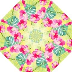 Tropical Dream Hibiscus Pattern Hook Handle Umbrellas (small) by DanaeStudio
