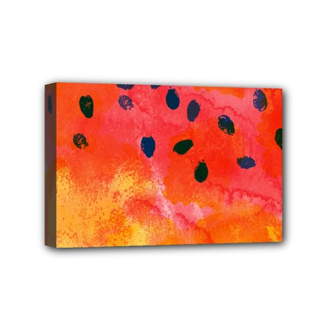 Abstract Watermelon Mini Canvas 6  X 4  by DanaeStudio