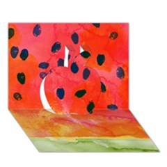 Abstract Watermelon Apple 3d Greeting Card (7x5) by DanaeStudio