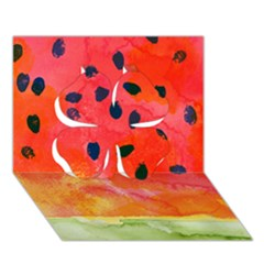 Abstract Watermelon Clover 3d Greeting Card (7x5) by DanaeStudio
