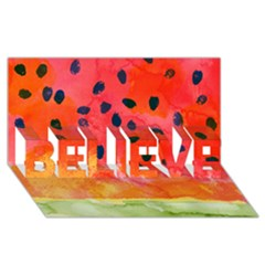 Abstract Watermelon Believe 3d Greeting Card (8x4) by DanaeStudio