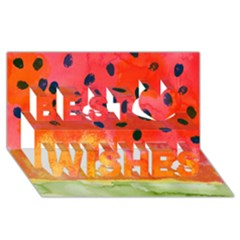 Abstract Watermelon Best Wish 3d Greeting Card (8x4) by DanaeStudio