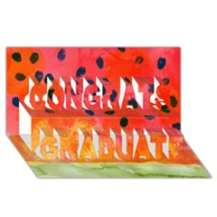 Abstract Watermelon Congrats Graduate 3d Greeting Card (8x4) by DanaeStudio