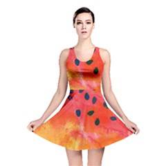 Abstract Watermelon Reversible Skater Dress by DanaeStudio