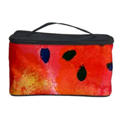 Abstract Watermelon Cosmetic Storage Case by DanaeStudio