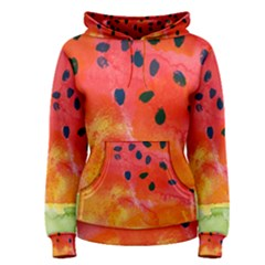Abstract Watermelon Women s Pullover Hoodie by DanaeStudio