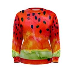 Abstract Watermelon Women s Sweatshirt by DanaeStudio